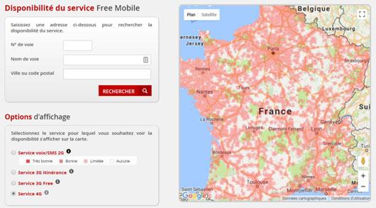 carte réseau 4g free