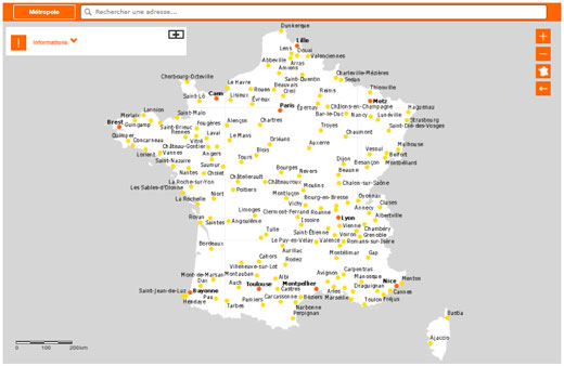 carte couverture fibre optique orange